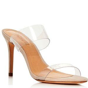 SCHUTZ Ariella Clear Strap Slide Sandals, 6.5 NEW